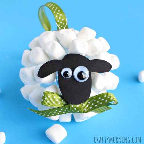 Marshmallow Sheep Ornament