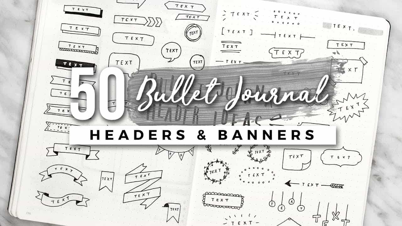 Bullet Journal Headers Tutorial