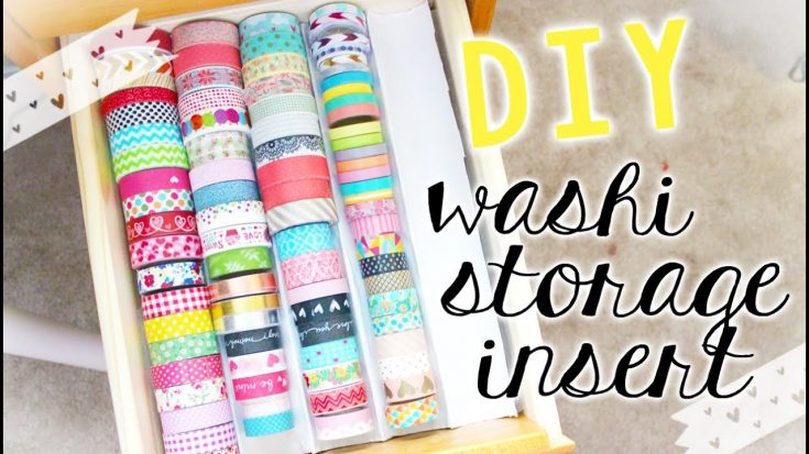 DIY Washi Tape Storage Tray