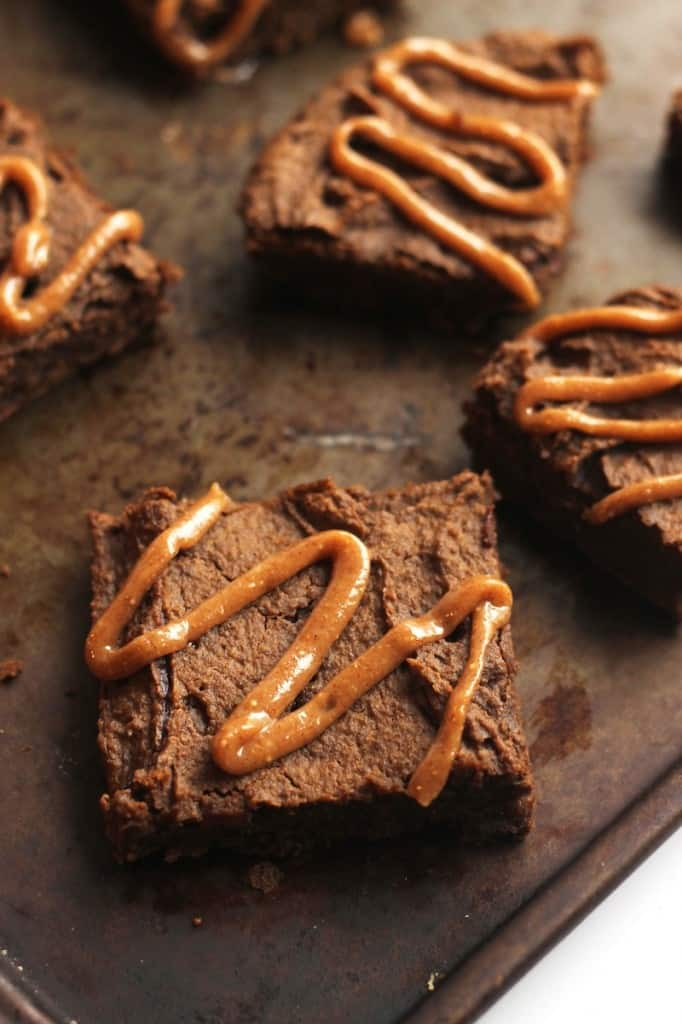 Chocolate Chip Gingerbread Chickpea Blondies With Maple Glaze<