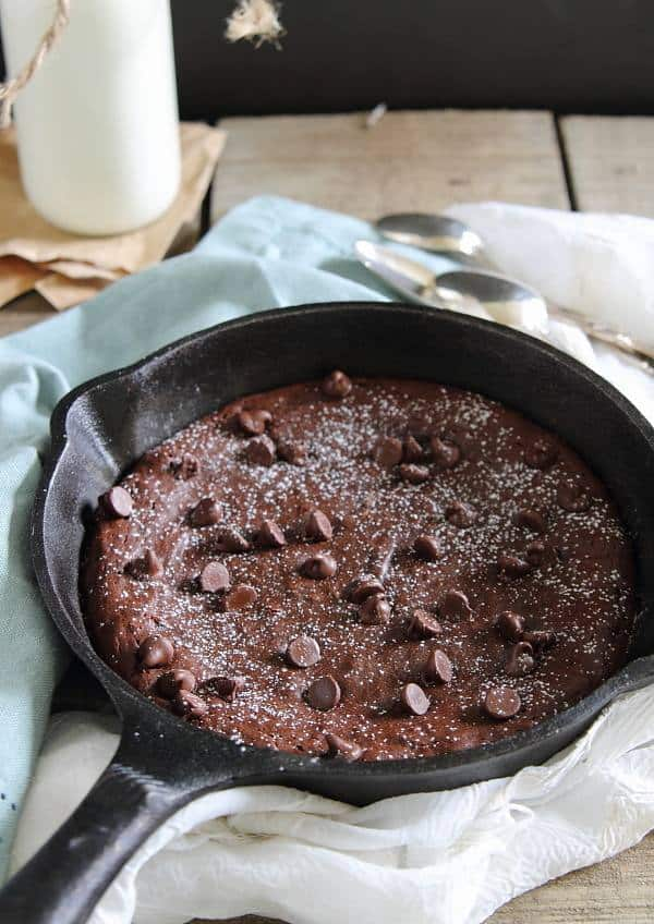 Fudgy Paleo Skillet Brownie