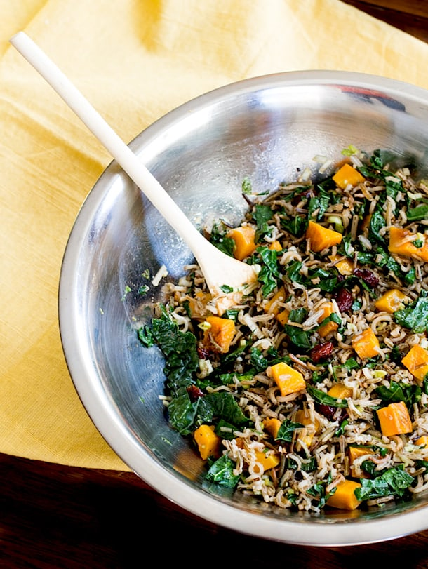 Wild Rice and Butternut Squash Salad with Maple Balsamic Dressing