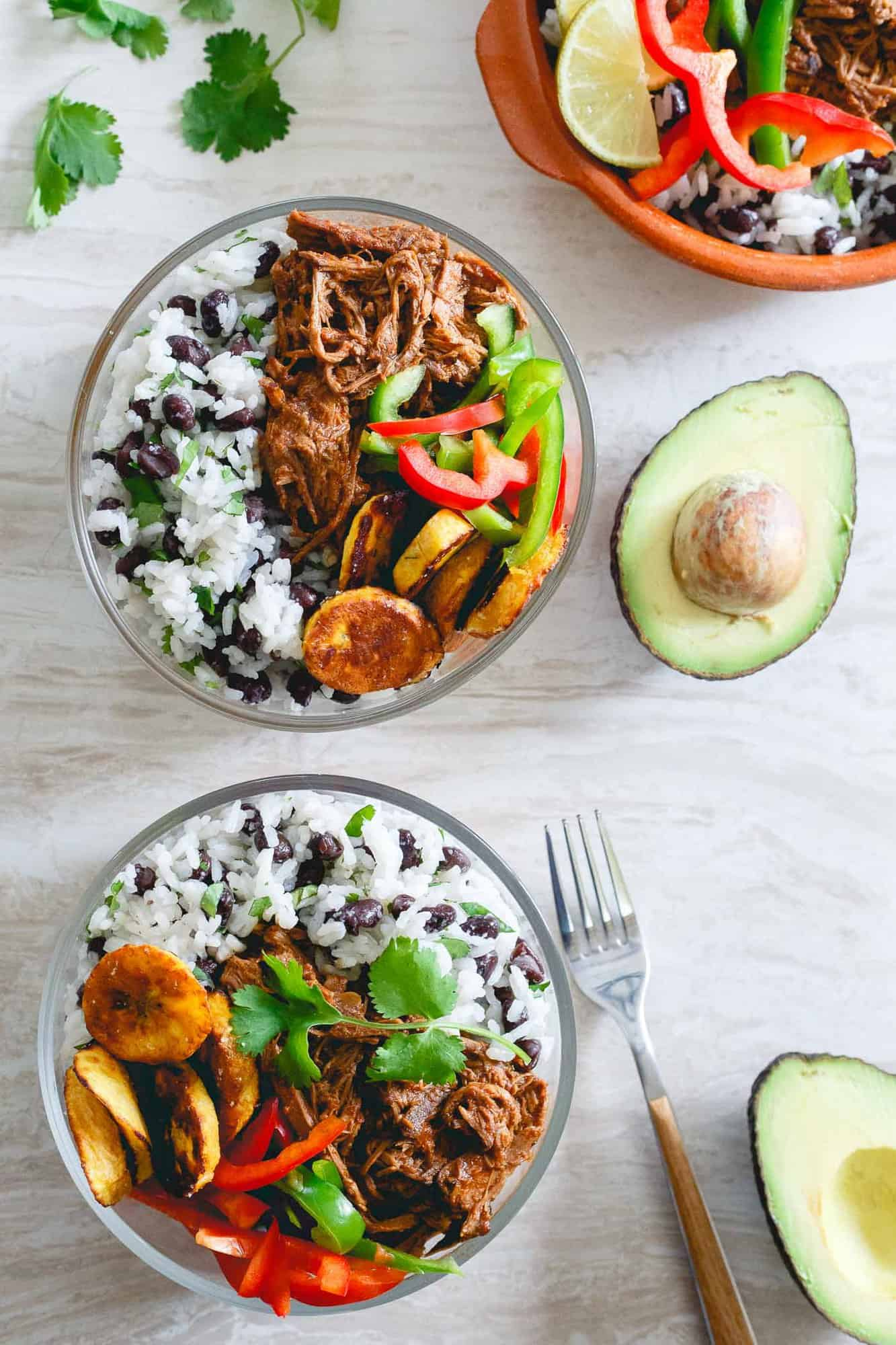 Slow Cooker Shredded Mexican Beef Bowls
