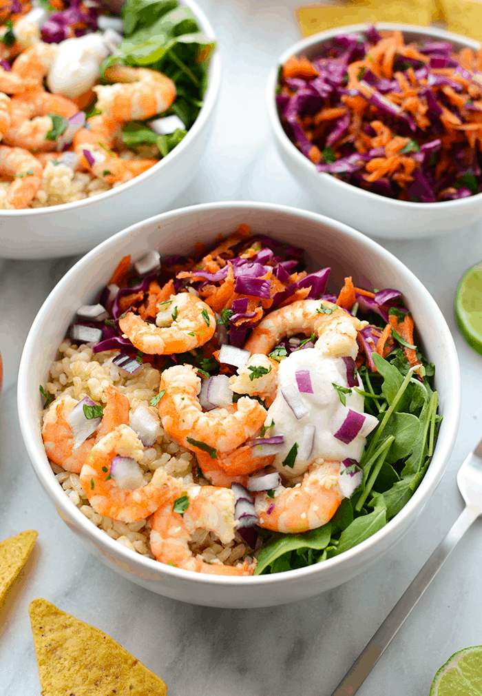 Cilantro Lime Shrimp Bowls
