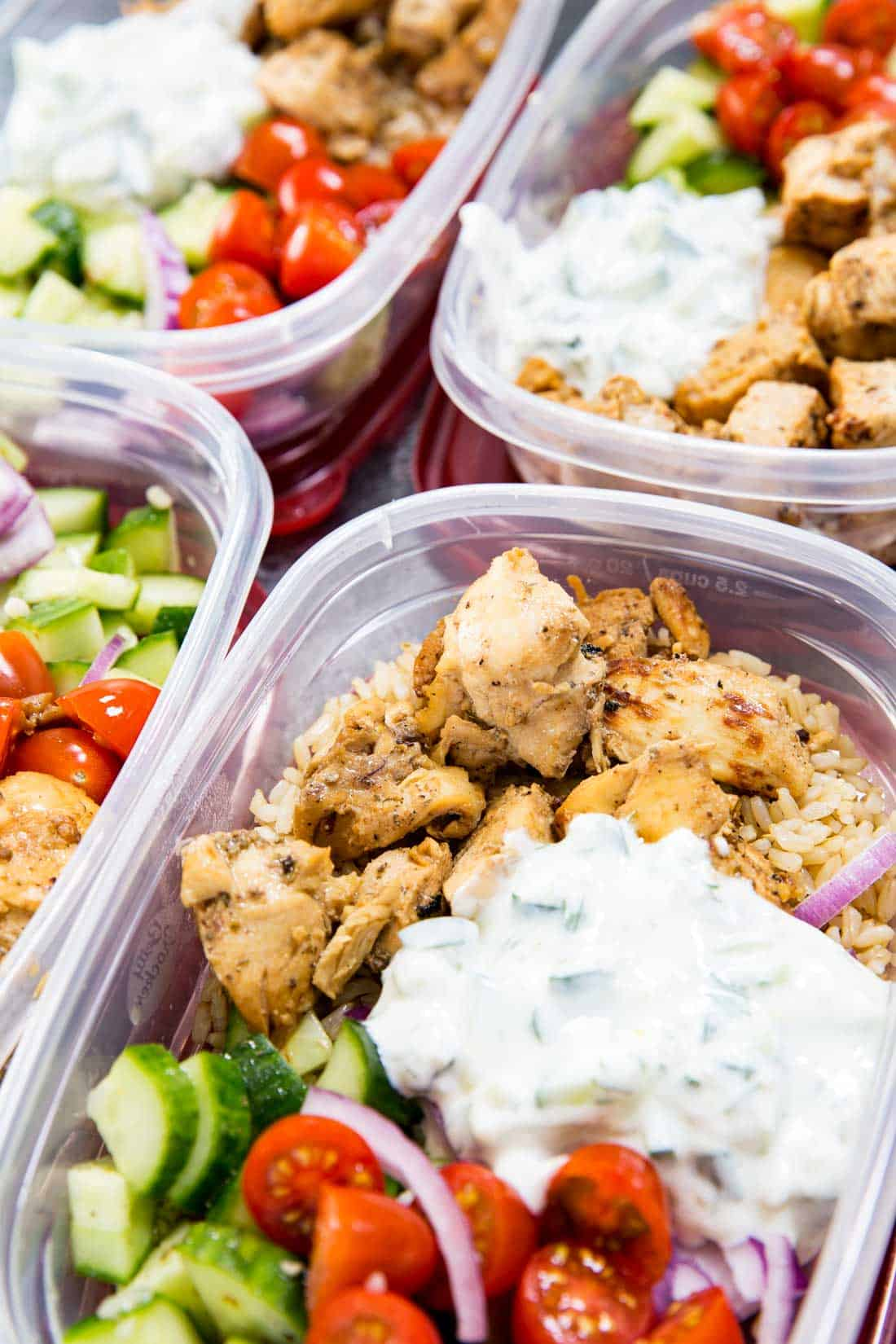 Greek Chicken Bowls (Meal Prep Easy)