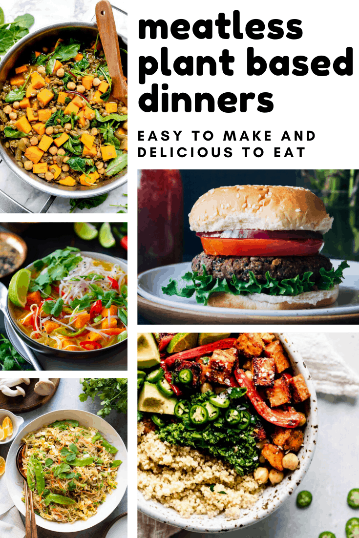 So many delicious meatless plant-based dinners your whole family can enjoy together - even the picky eaters and the carnivores!
