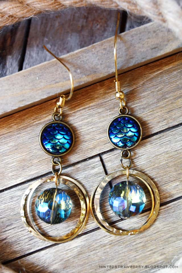 DIY Mermaid Boho Earrings