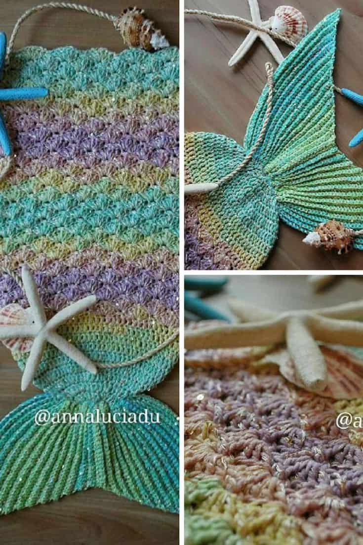 Crochet Mermaid Blanket Pattern