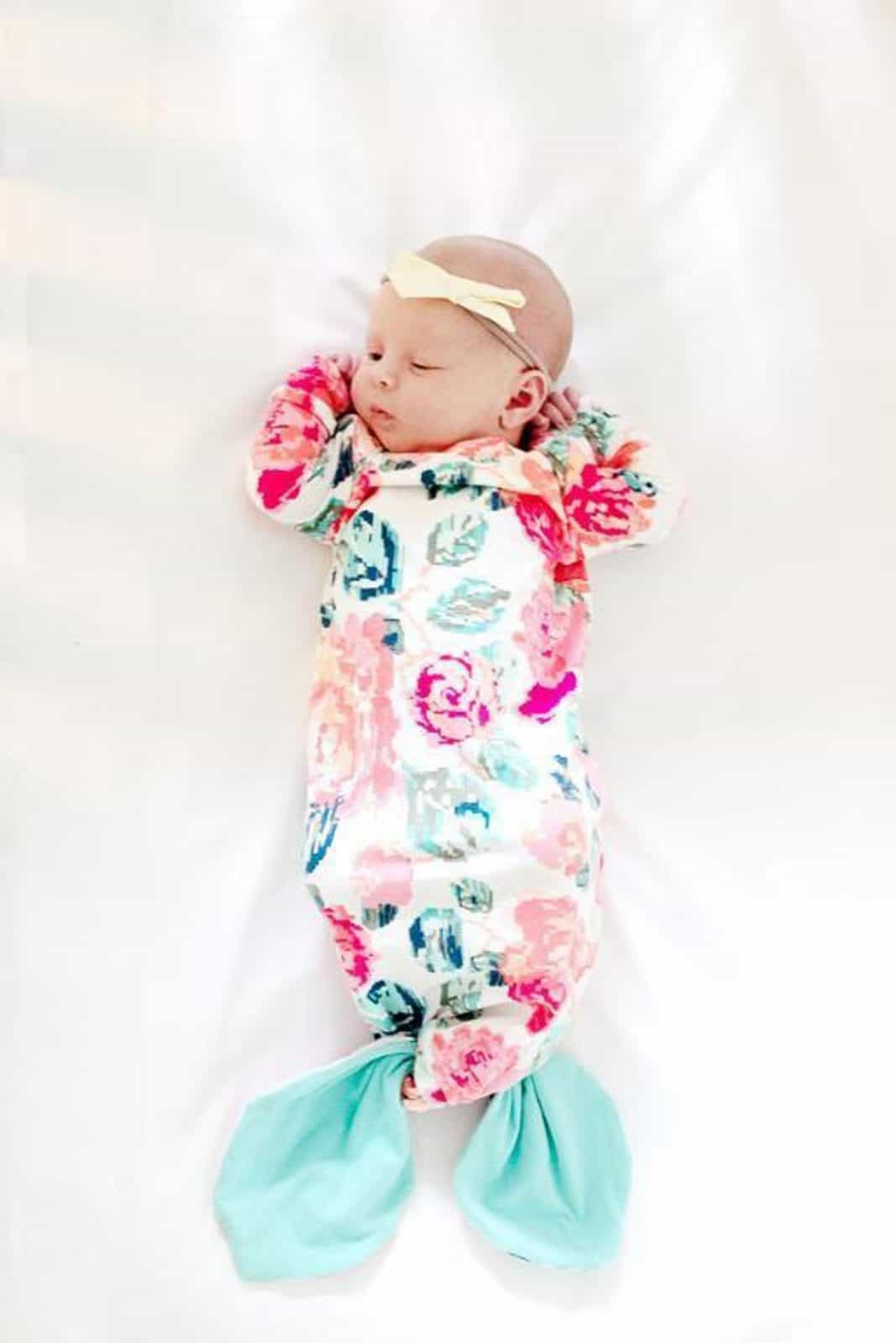 Mermaid Baby Gown Pattern