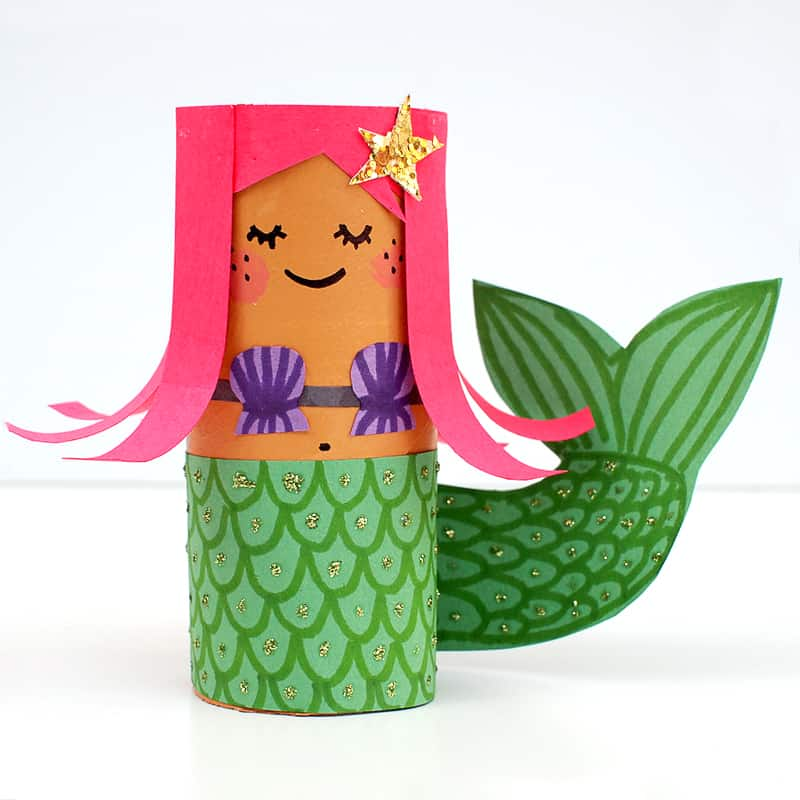 Mermaid Toilet Roll Craft