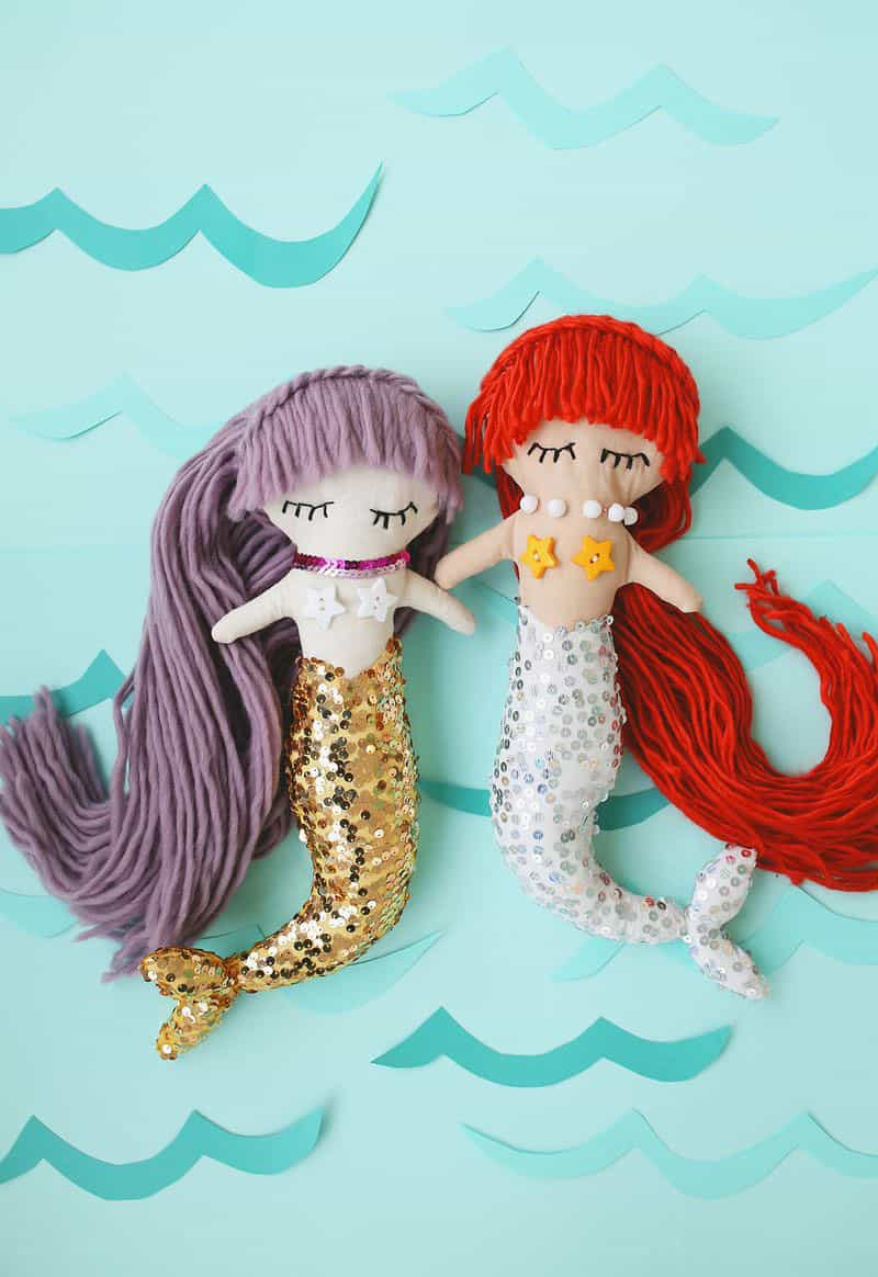 DIY Mermaid Plush Dolls