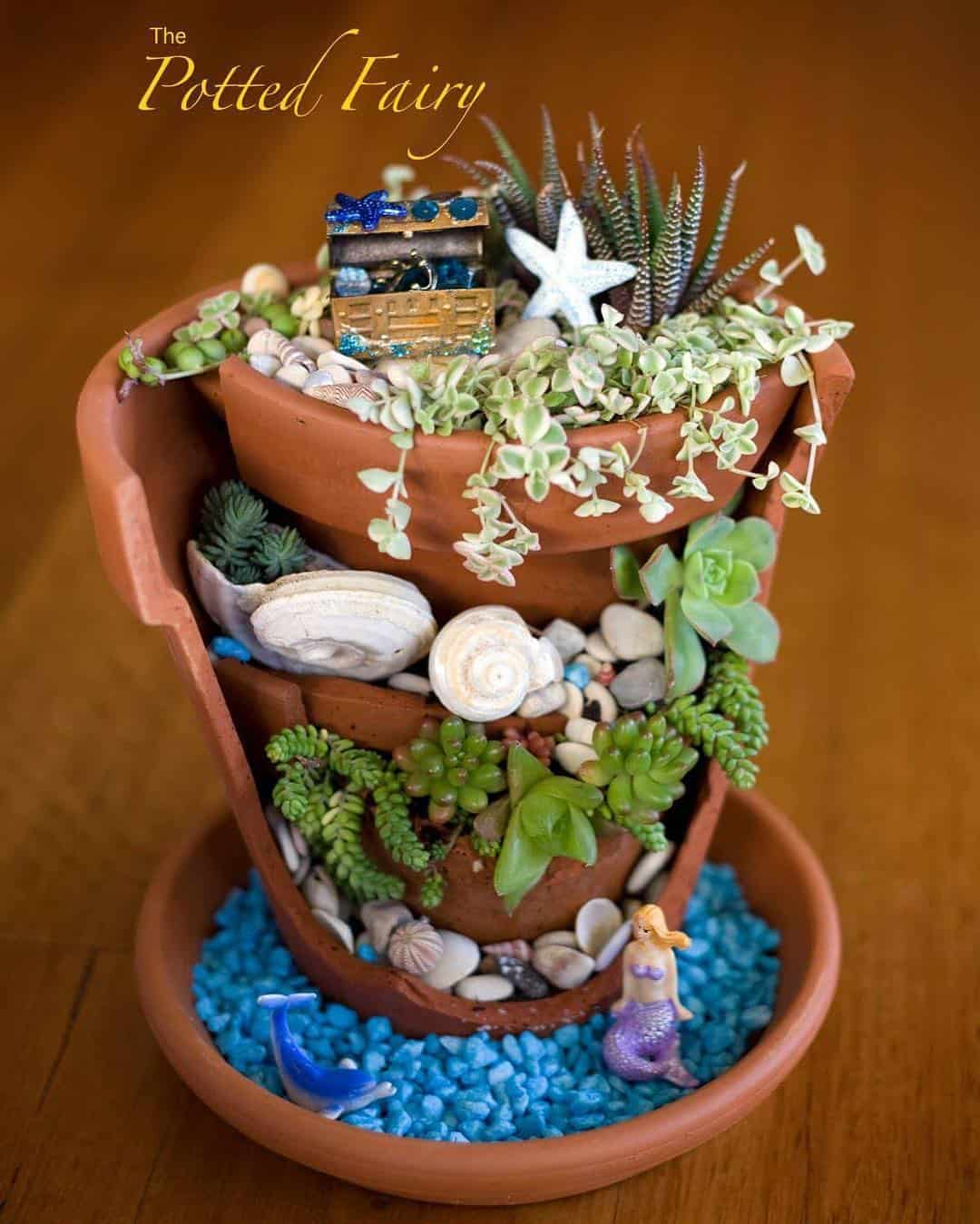 Broken Pot Mermaid Garden