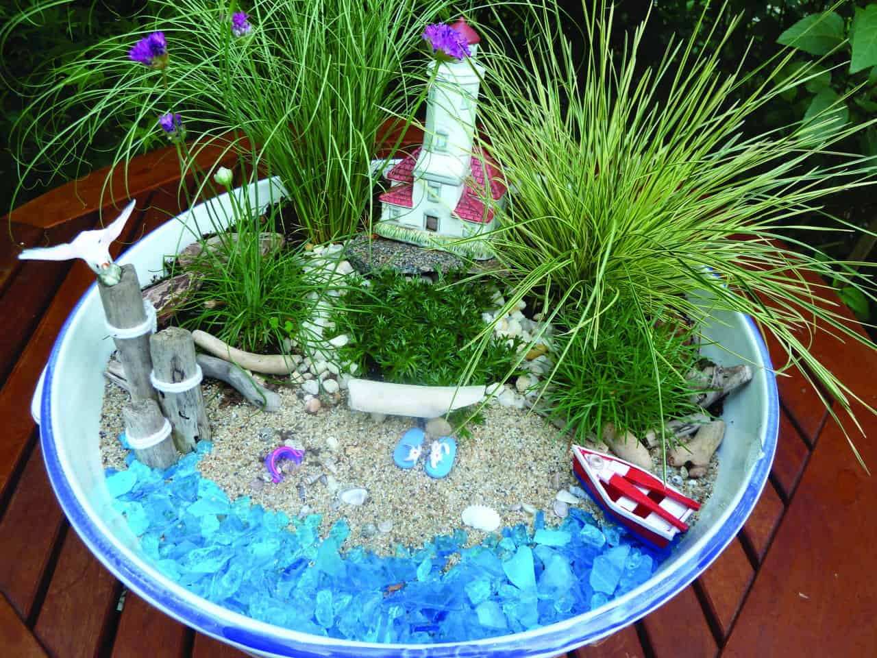 Miniature Mermaid Container Garden