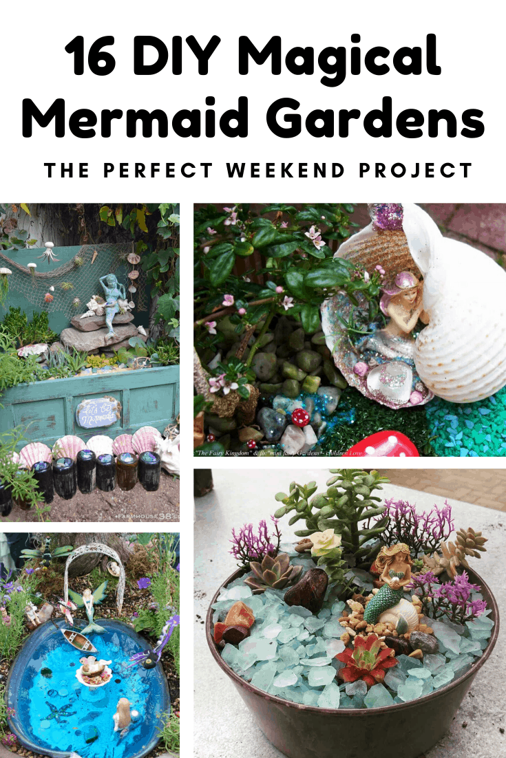 Check out these DIY mermaid garden ideas that you can make this weekend! #mermaid #diy #crafts