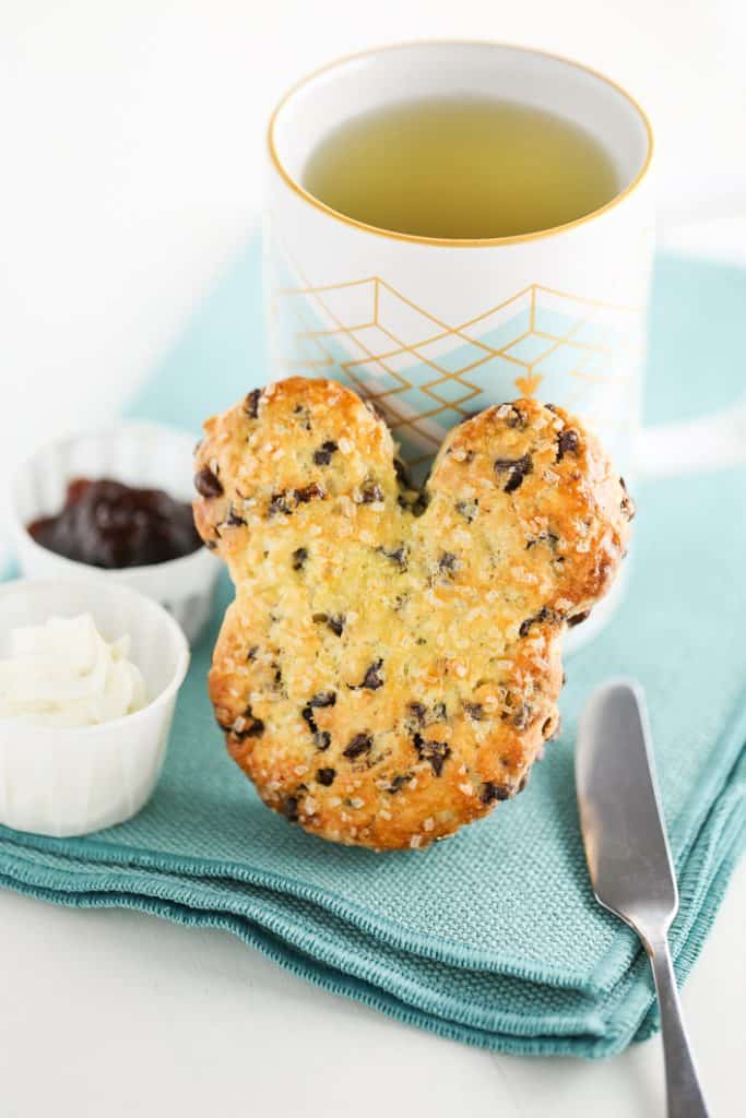 Mickey Mouse Chocolate Chip Scones