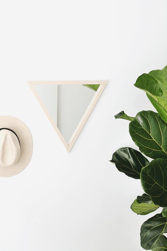 Make a funky triangular mirror
