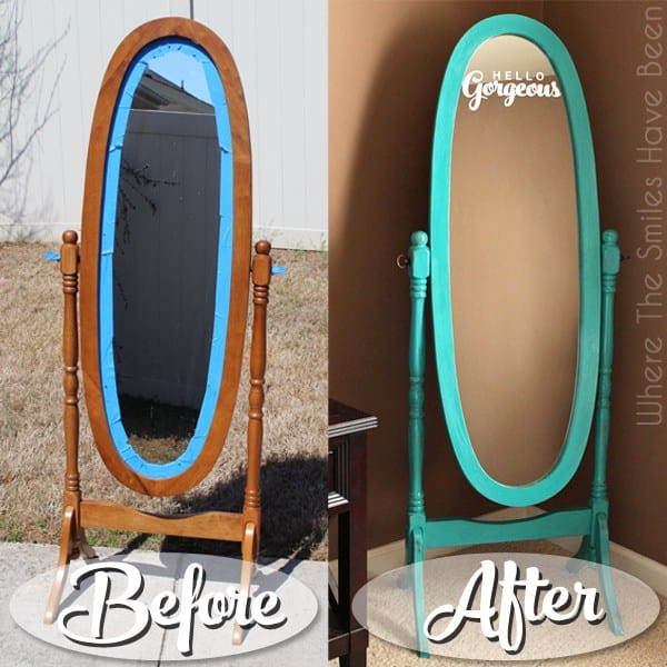 Make a standing mirror look gorgeous
