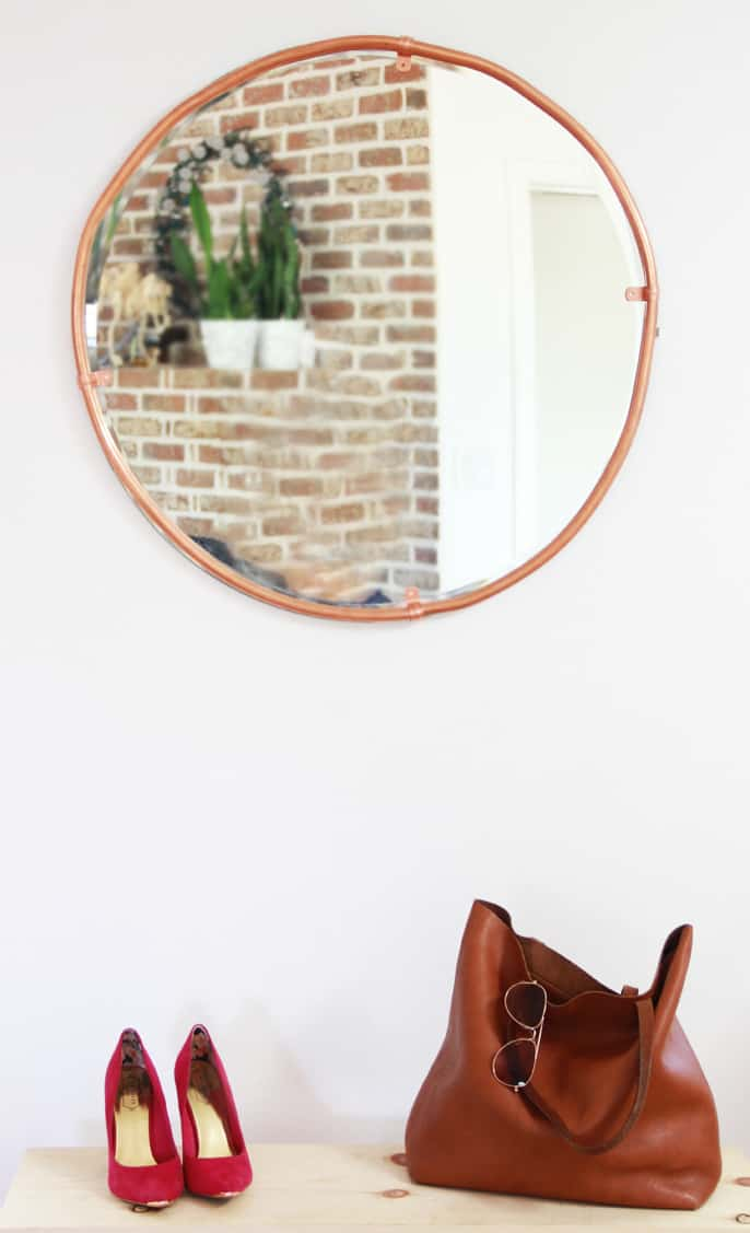 Make a gorgeous copper frame for your round mirror