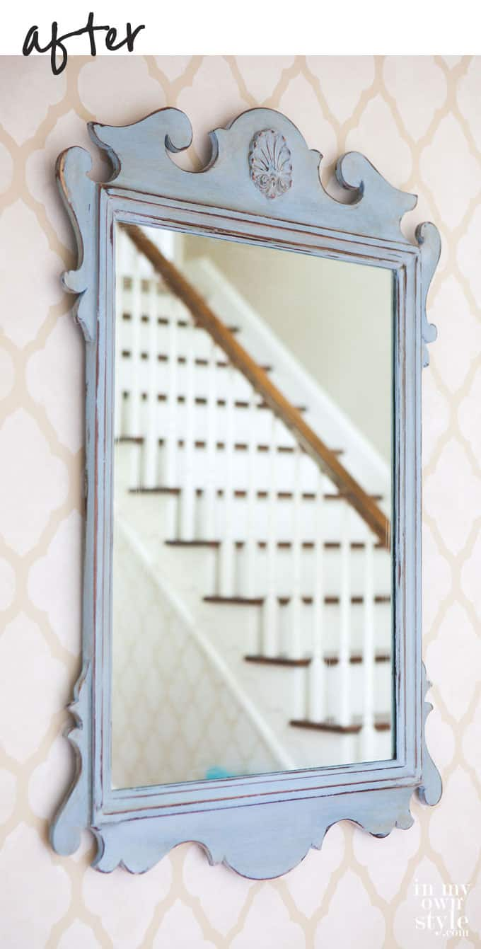 Use chalk paint to makeover a frame