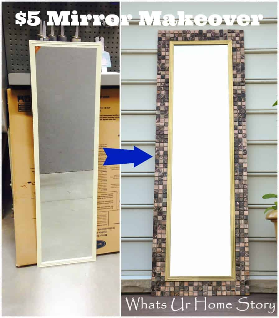 Use tiles to makeover your mirror frame