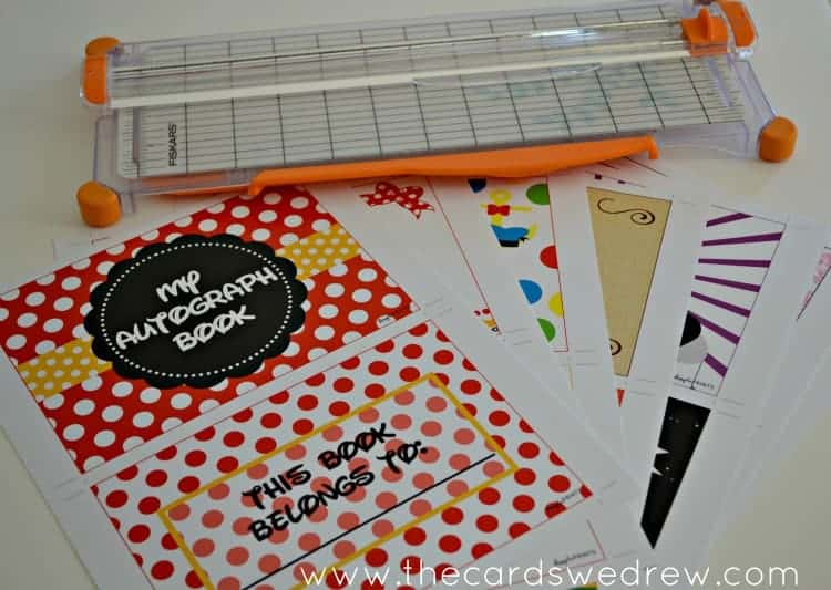 Disney Autograph Books | Use chipboard to make your pages more sturdy