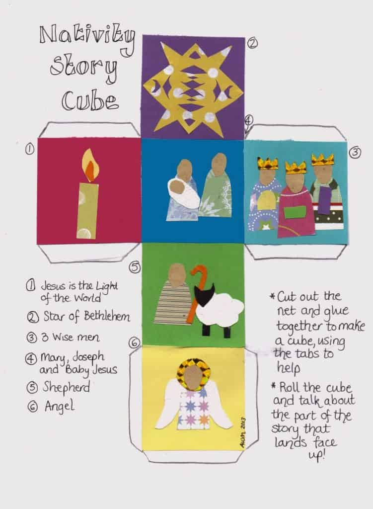 What a GREAT idea - a story cube of the Nativity!