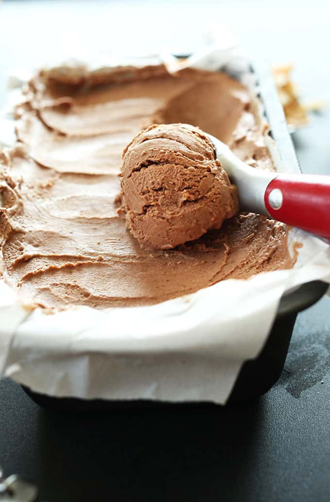 No Churn Vegan Chocolate Ice Cream