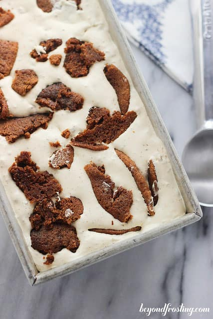 No-Churn Molasses Cookie Ice Cream