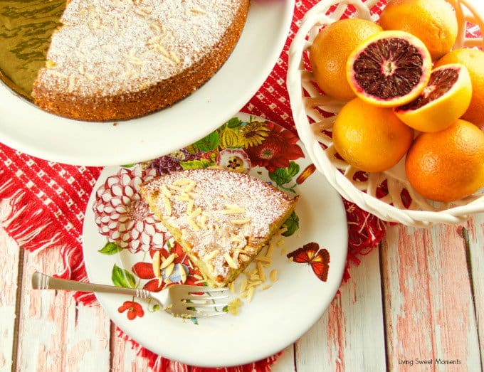Blood Orange Almond Flourless Cake