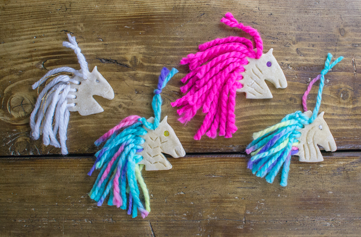 How To Make Rainbow Unicorn Salt-Dough Ornaments