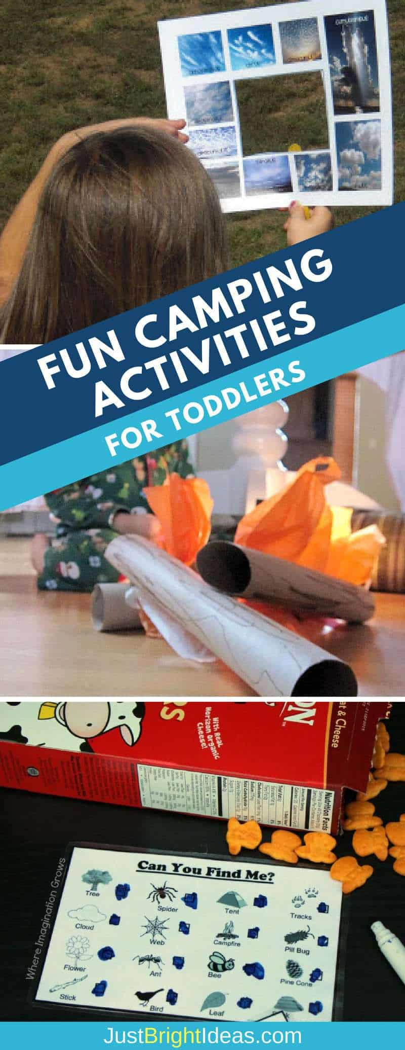 outdoors and indoor camping activities for toddlers