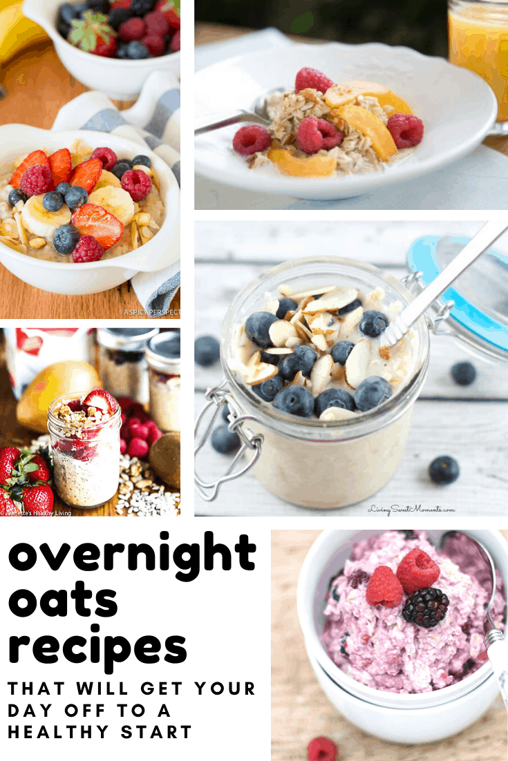 Yum! These overnight oats recipes are super easy to make and taste delicious!