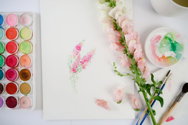 How to Paint Snapdragons