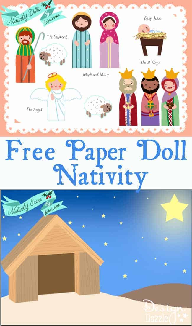 Oh this paper doll nativity set will keep the kids quiet!