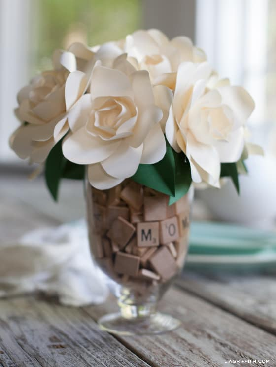 DIY Metallic Paper Gardenia