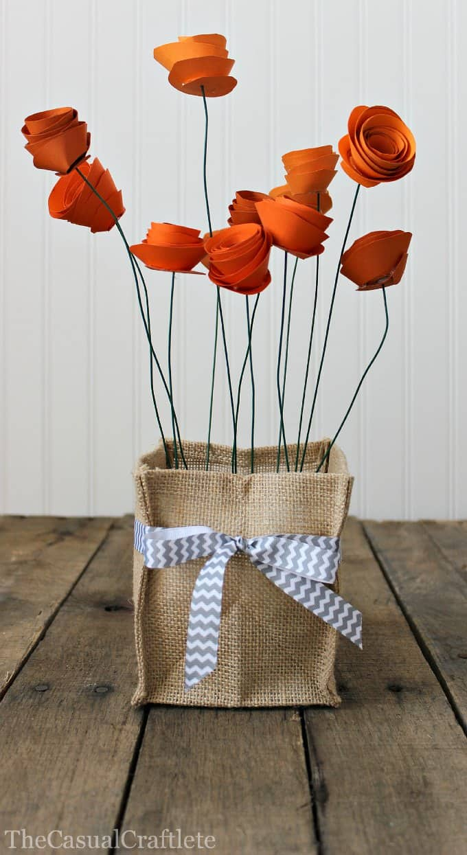 How to Make a Pretty Paper Flower Centerpiece