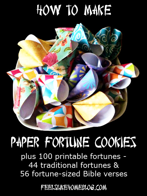 SUPER COOL! How to make your own Fortune Cookies!