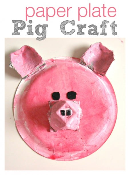 paper plate pig craft
