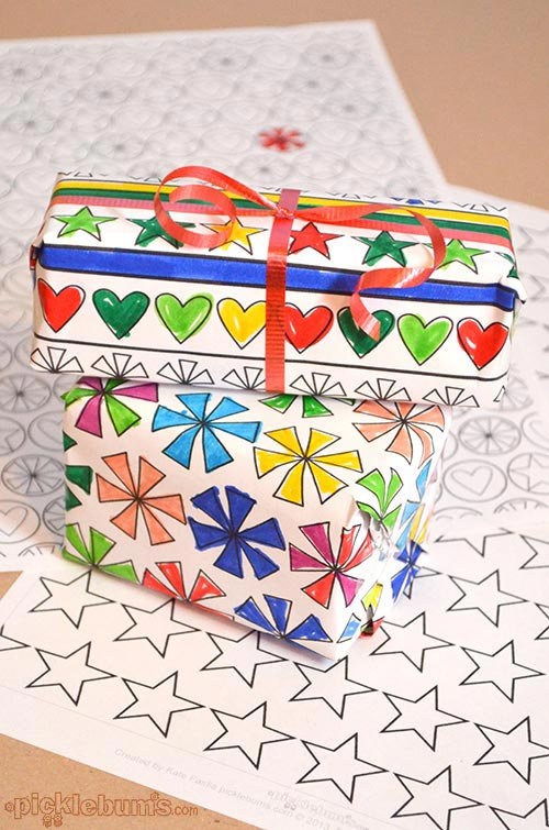 Homemade Wrapping Paper Crafts