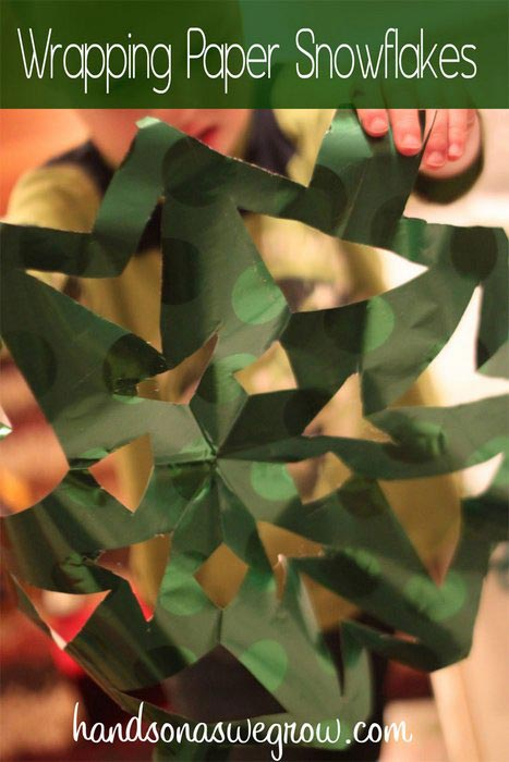 Leftover wrapping paper activities