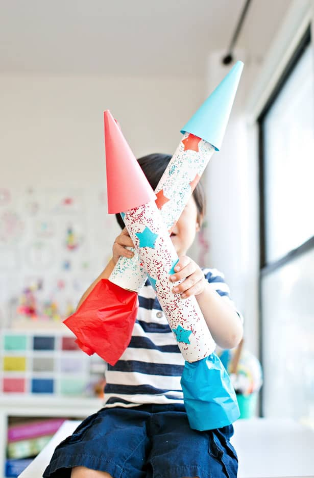 Easy DIY Rocket Ship Craft
