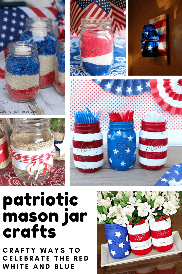 These patriotic mason jars are brilliant repurposing projects
