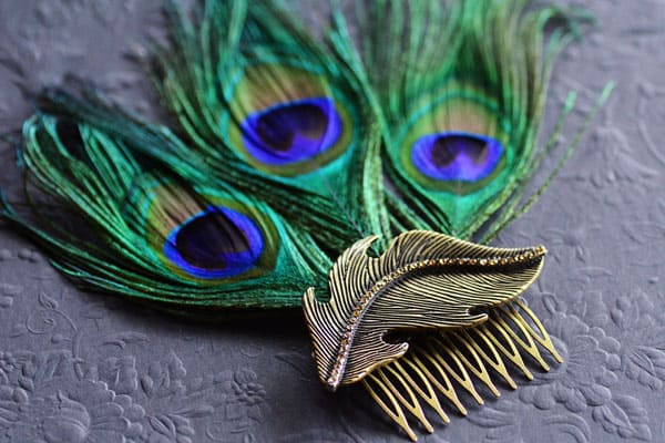 DIY Peacock Feather Fascinator