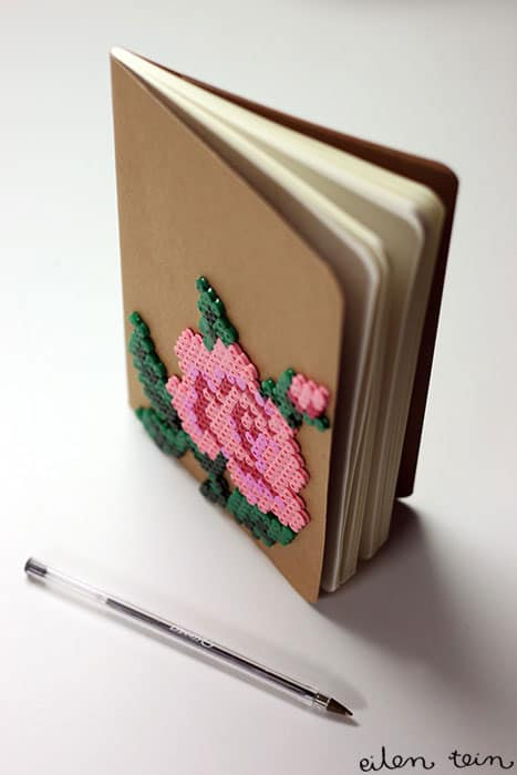 Perler Bead Craft Notebook Cover