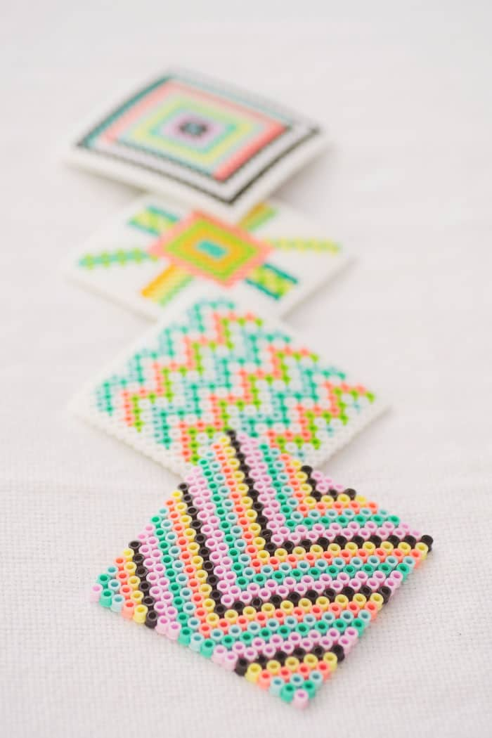 DIY Geometric Fused Bead Coasters