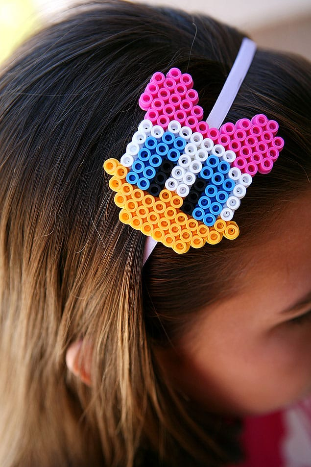 Daisy and Donald Perler Bead Necklaces or Headband