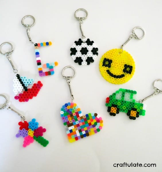 Perler Bead Key Chains