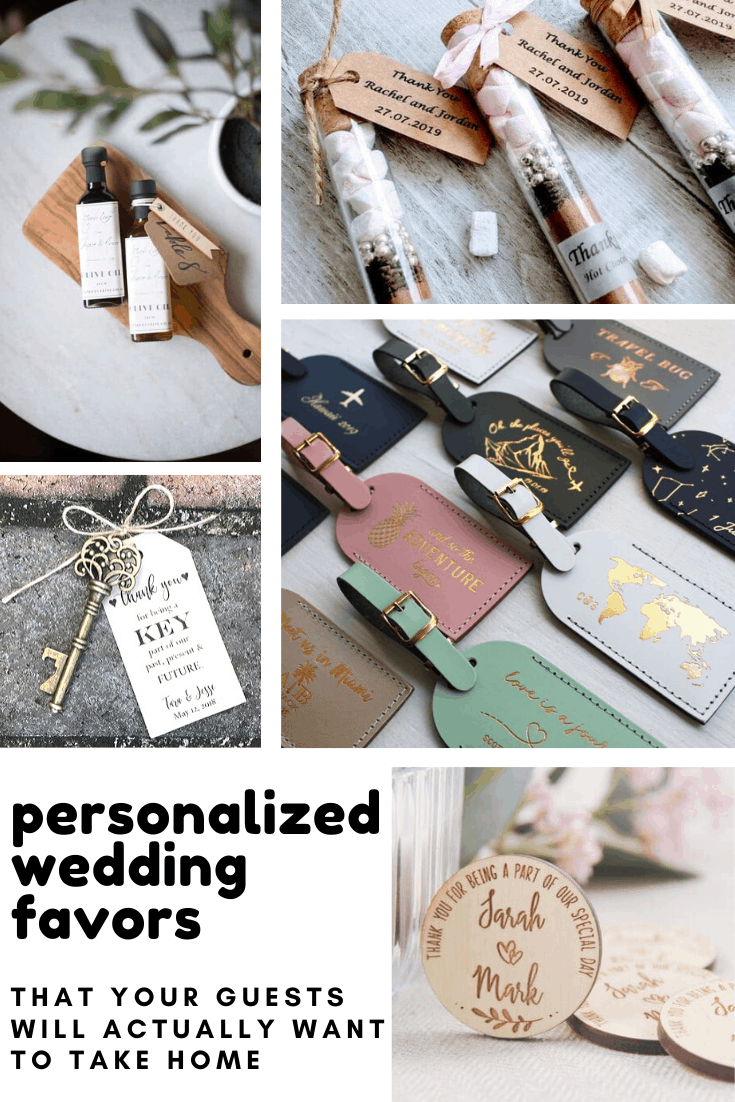Loving these personalized wedding favors and they make wonderful keepsake gifts for your guests