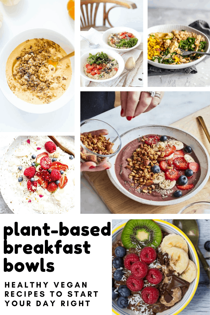 These plant-based breakfast bowls are colourful, delicious and vegan