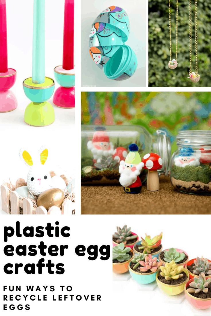 These fun crafts are the perfect way to repurpose those plastic easter eggs!